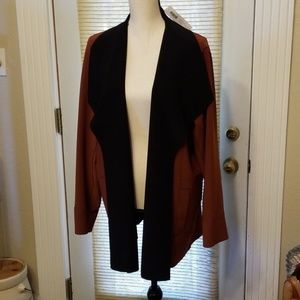 Chico's Reversible Bonded Jkt. Sz 3 NWT Brown/Blk